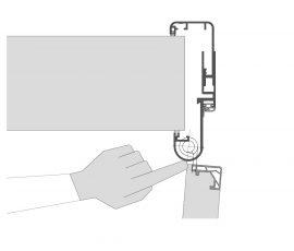 Küffner Fingerschutzdichtung Bandkante außen