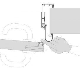 Küffner Fingerschutzdichtungen Schloßkante innen