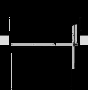 Wandöffnung für barrierefreie Tür