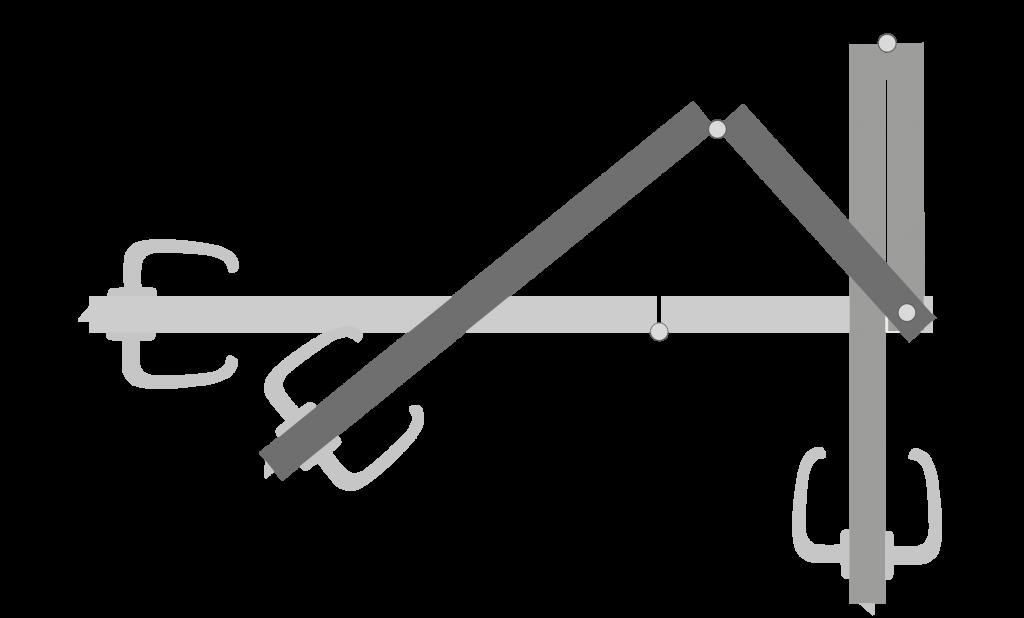 Öffnungsverlauf der Küffner Knick- Falttür