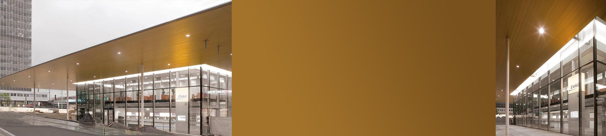 goldenes Dach von Essen HBF