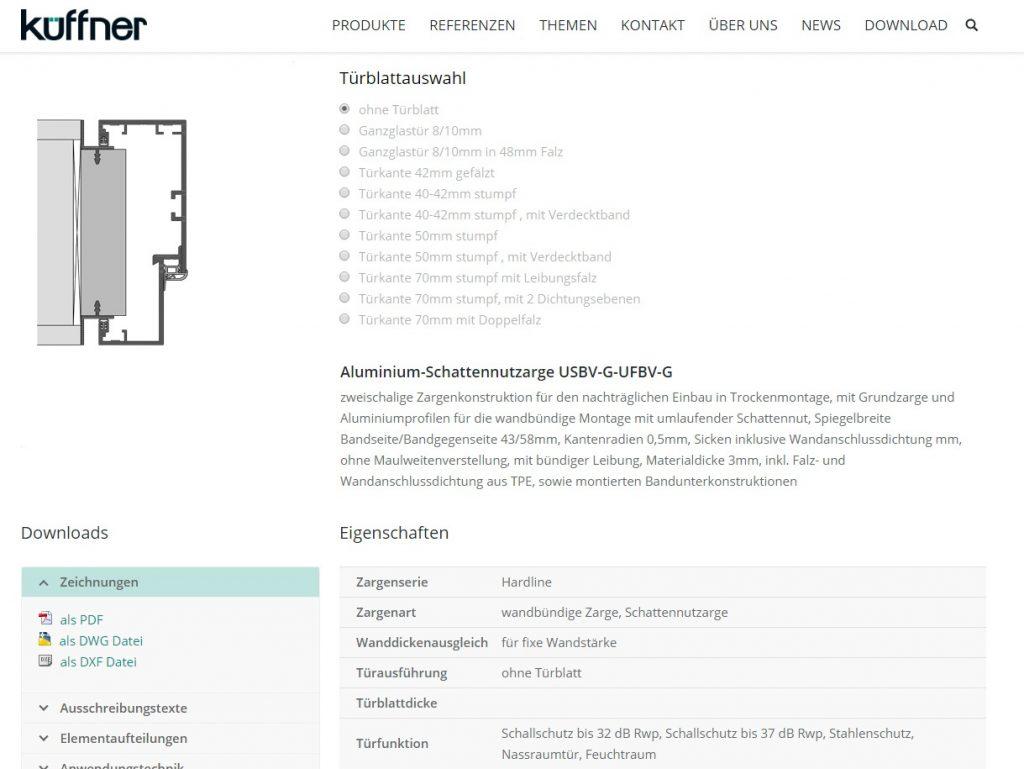 Türzarge detail dwg  Relaunch der Küffner Website - Küffner Aluzargen