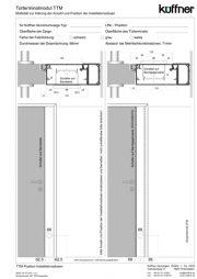 Maßaufnahmeblatt zur technischen Klärung der Position von Schalterdosen