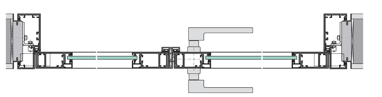 flächenbündige Rahmentüren mit Türzargen und in Verglasungen