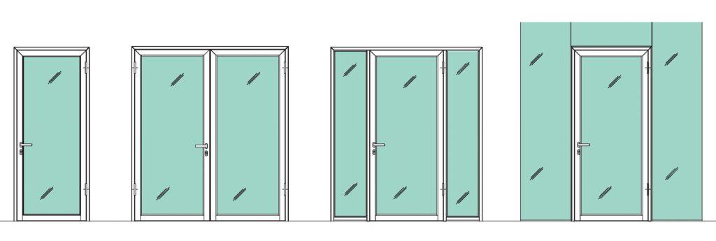 Beispiele Anordnung Rohrahmentüren