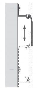 technische Zeichnung zu Dehnfugen - Abdeckprofil