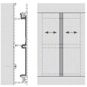 technische Zeichnung zu Dehnfugenprofil