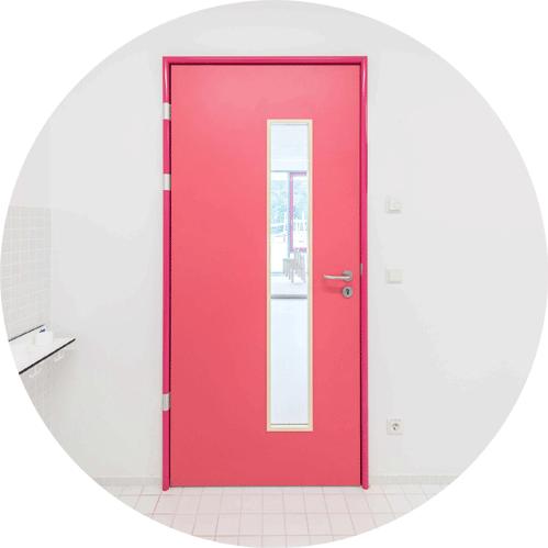 Tür für Kindergarten und Kindergrippe