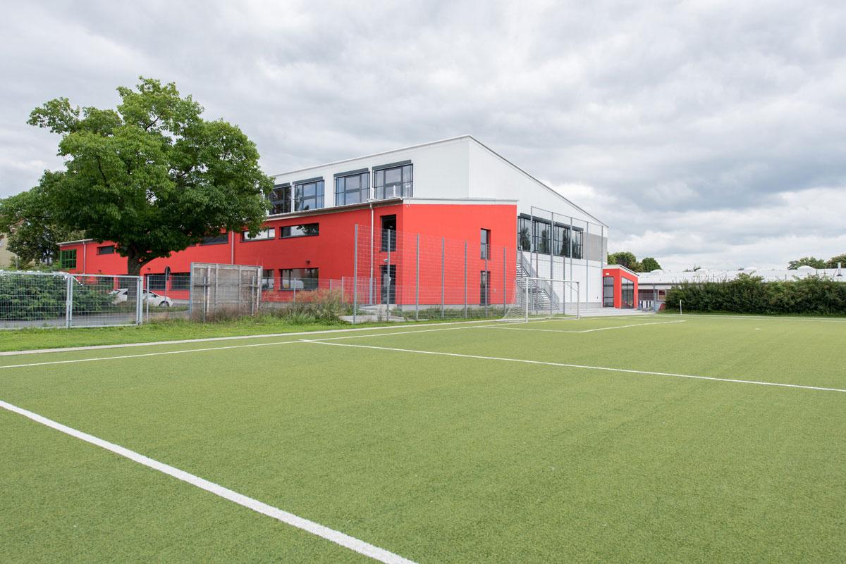 Türzargen und Raumspartür - Sporthalle, Bayreuth - Küffner Aluzargen