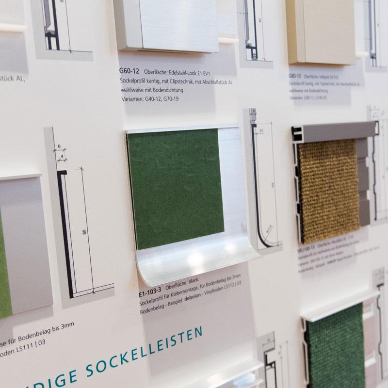 sockelprofile mustertafel k ffner aluzargen. Black Bedroom Furniture Sets. Home Design Ideas