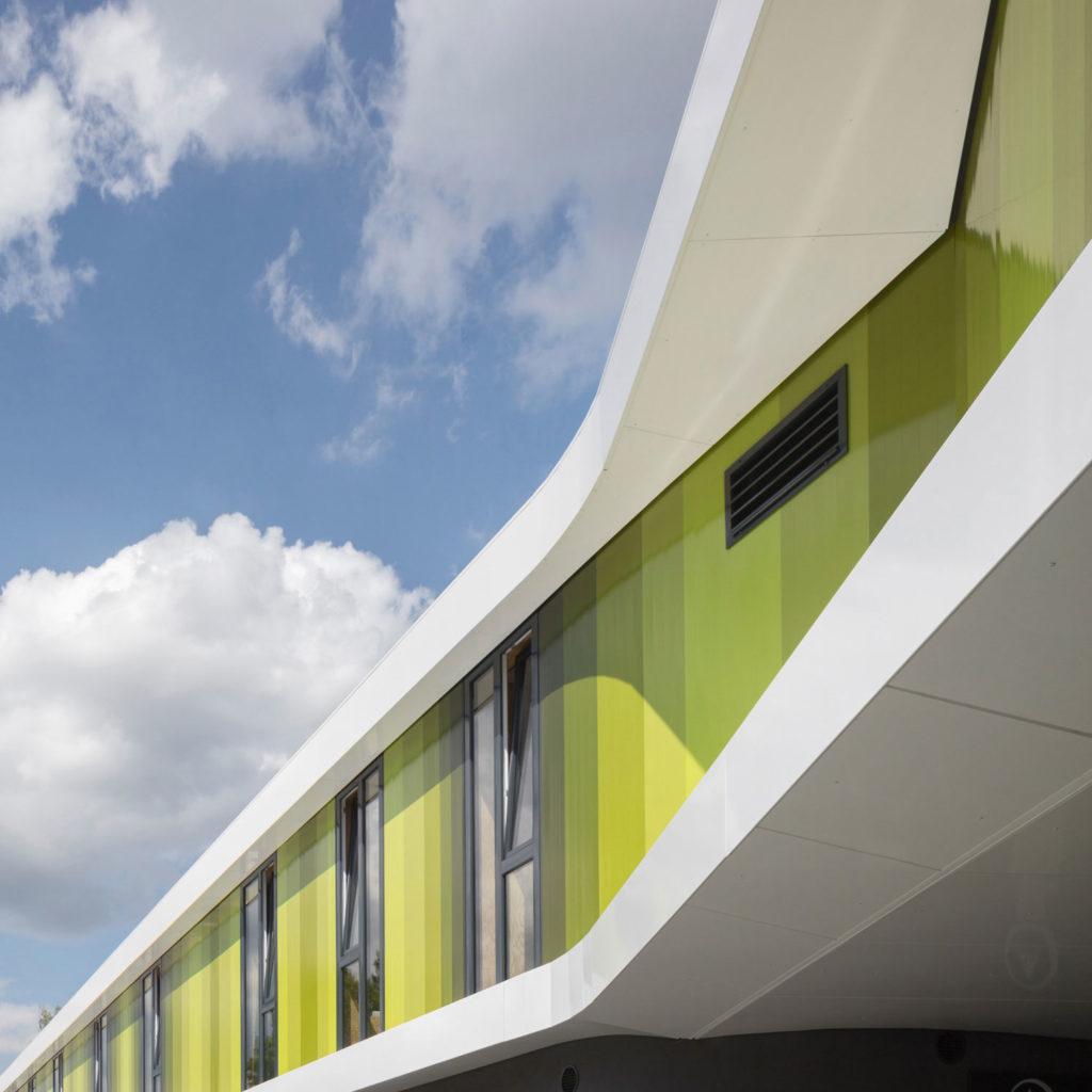 Aluminiumpaneele für die Fassade