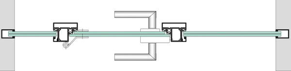 Festverglasung mit Ganzglastür