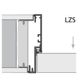 wandbündige Türzarge und Türblatt - Detailschnitt